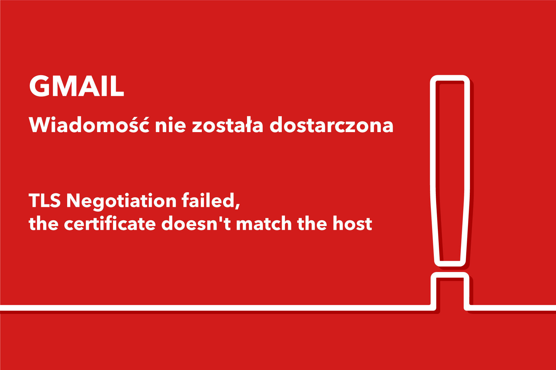 Wiadomość nie została dostarczona TLS Negotiation failed, the certificate doesn't match the host